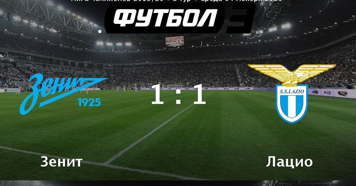 Zenit Lacio Video Golov I Obzor Matcha 04 11 2020 Futbol 24
