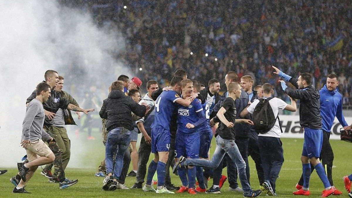 """Під час матчу """"Дніпро"""" - """"Наполі"""" міліція затримала 19 фанатів"""
