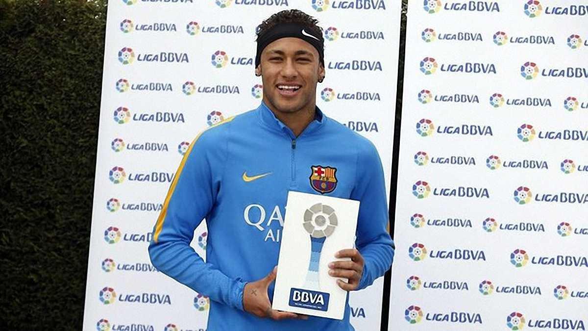 """Неймар став першим за 2 сезони представником """"Барселони"""", якого визнали гравцем місяця у Прімері"""