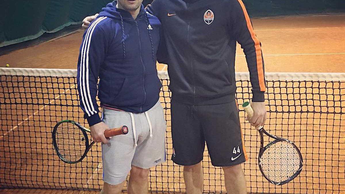Ребров та Ракицький зіграли в теніс (ФОТО)