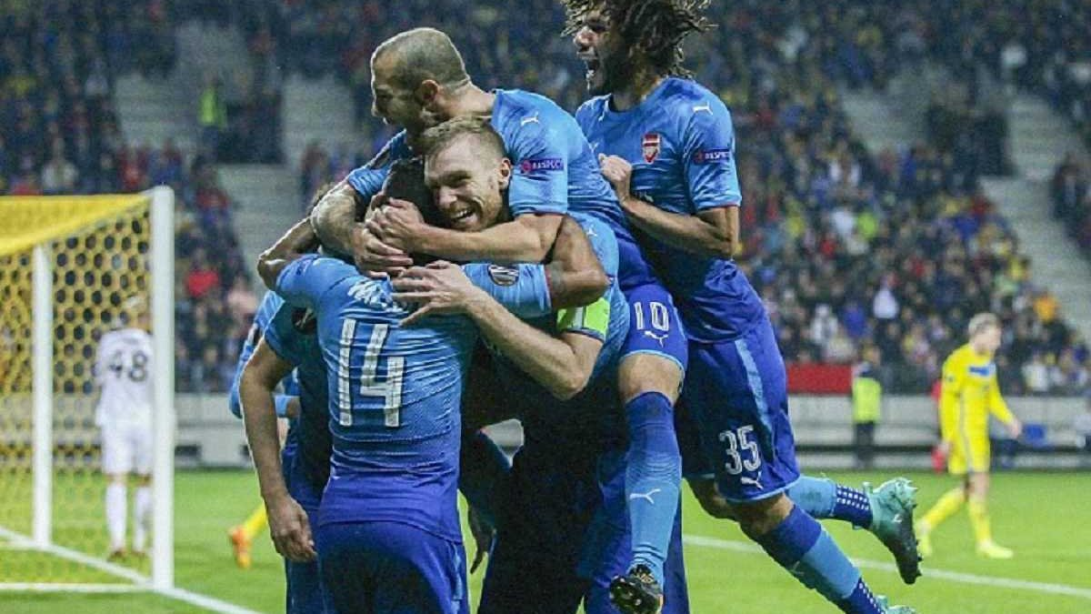 Ліга Європи: Арсенал переміг БАТЕ, Стяуа здолала Лугано