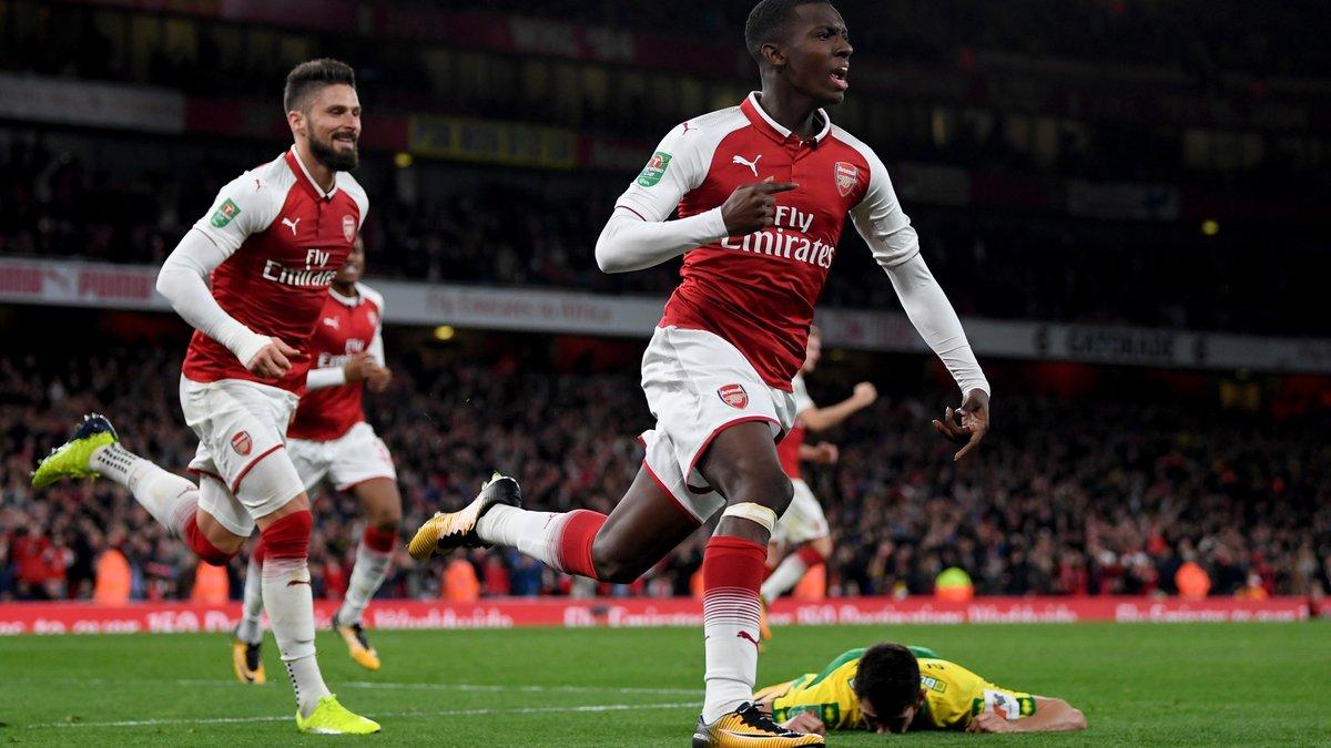 18-річний нападник Арсенала Нкетія забив дебютний гол за клуб першим дотиком після виходу на заміну