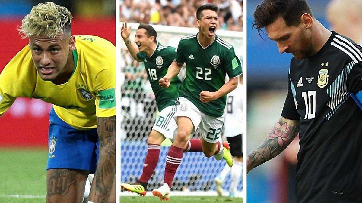 ЧМ-2018: 10 главных итогов 1-го тура – провал Неймара и Месси, пиренейский триллер и сенсационная Мексика