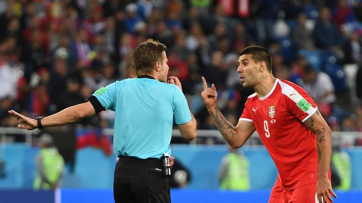 ЧС-2018: Матіч вважає суддівство Бриха в матчі зі Швейцарією упередженим