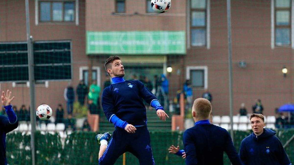 Пантич, Корзун и Рыбалка тренируются с дублем Динамо