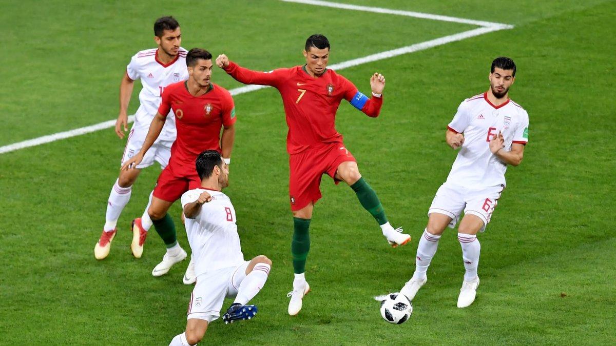 ЧМ-2018 Иран – Португалия: пиренейцы упустили победу и первое место в группе, но вышли в плей-офф