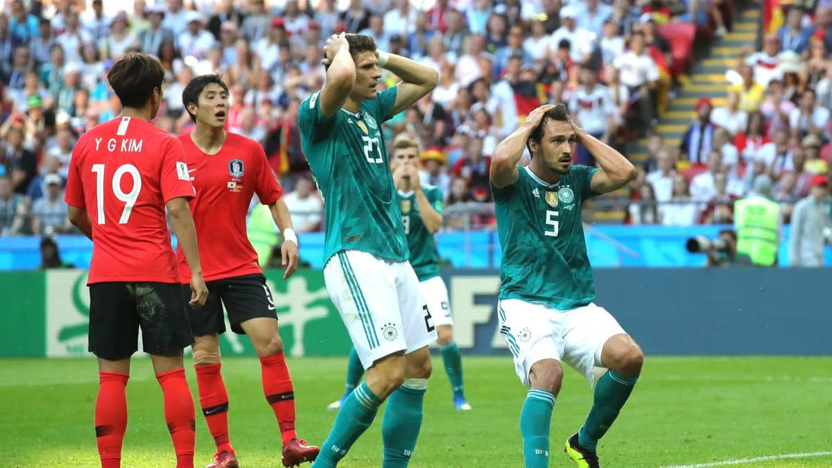 Южная Корея – Германия: Бундестим впервые в истории вылетает из Мундиаля на стадии группового этапа