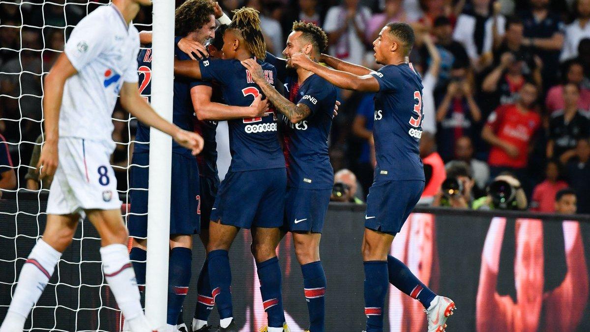 ПСЖ разгромил Кан в дебютном матче Буффона в Лиге 1