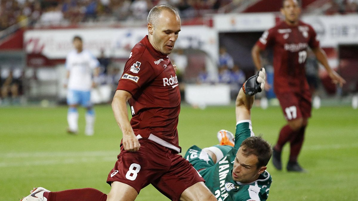 Іньєста забив за Віссел Кобе у другому матчі поспіль: черговий шедевр іспанця