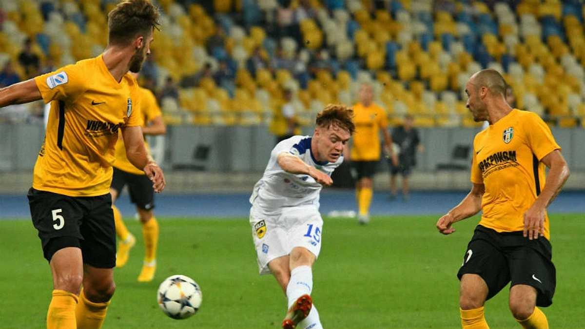 Динамо минимально победило Александрию, нанеся гостям первое поражение в УПЛ 2018/19