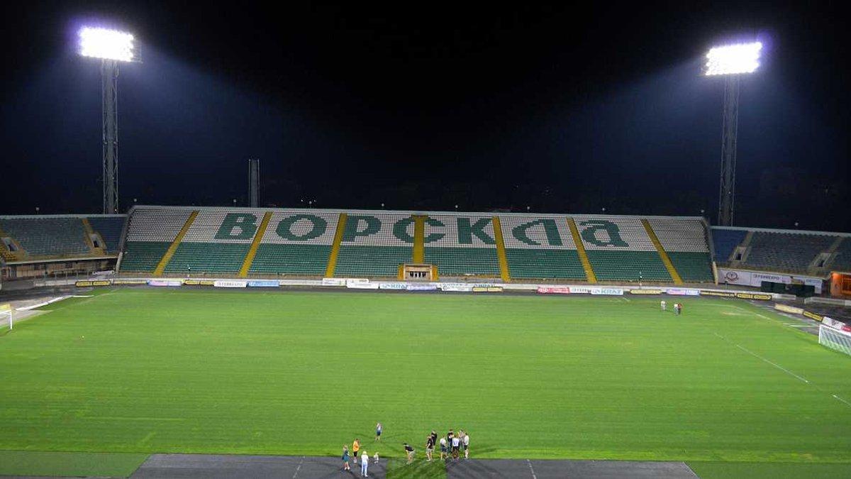 На стадионе Ворсклы презентовали новую систему освещения