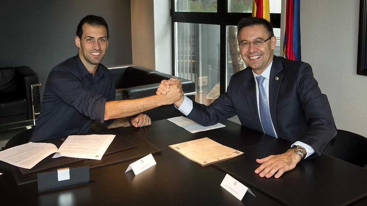 Барселона улучшит условия контракта Бускетса