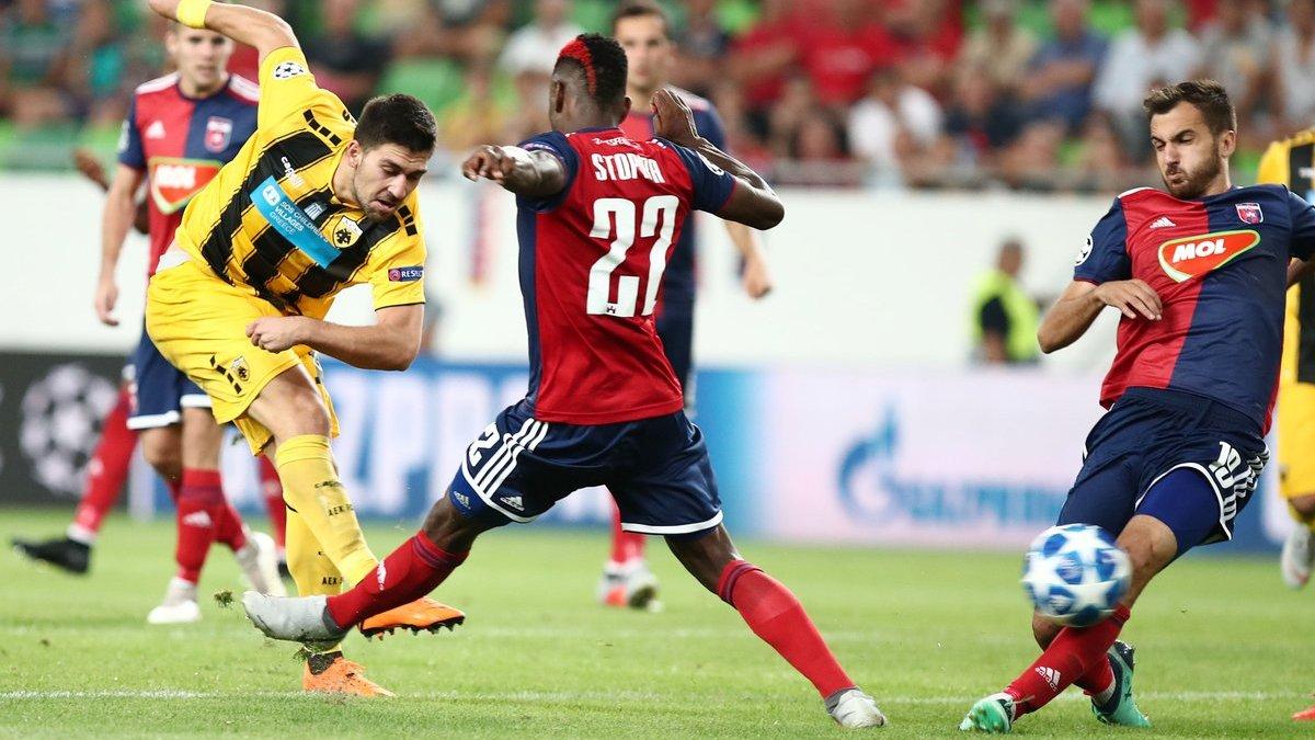 Ліга чемпіонів, плей-офф: АЕК обіграв Відеотон, Янг Бойз та Динамо Загреб розписали нічию