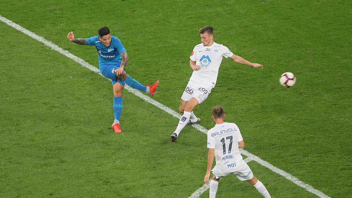 Лига Европы: Зенит одолел Мольде, Лудогорец минимально победил Торпедо Кутаиси Азацкого