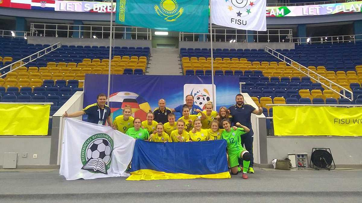 Женская сборная Украины вышла в финал студенческого чемпионата мира по футзалу