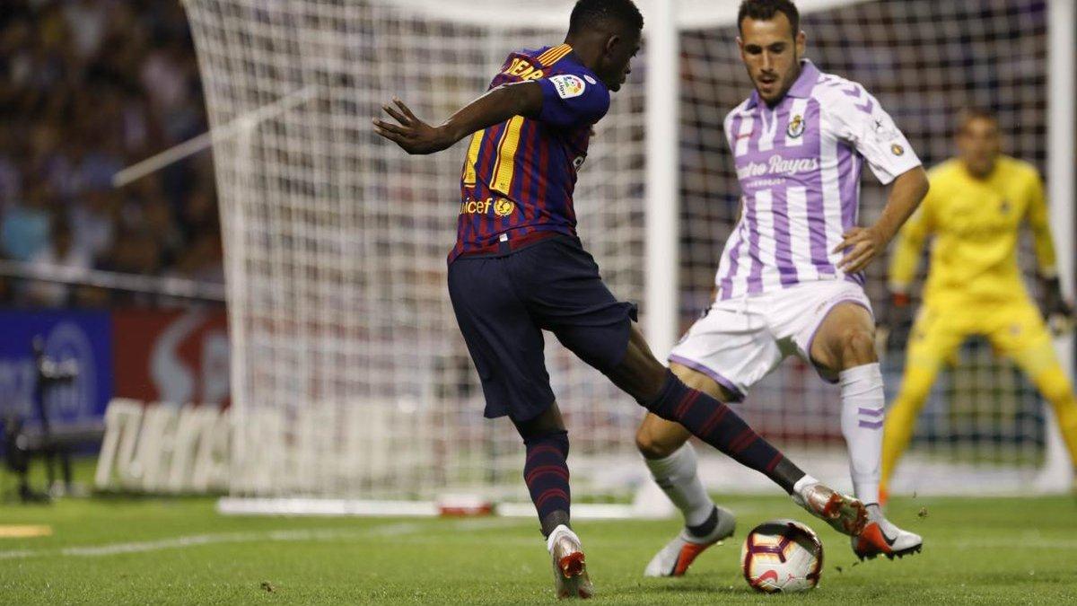 Барселона на выезде победила Вальядолид