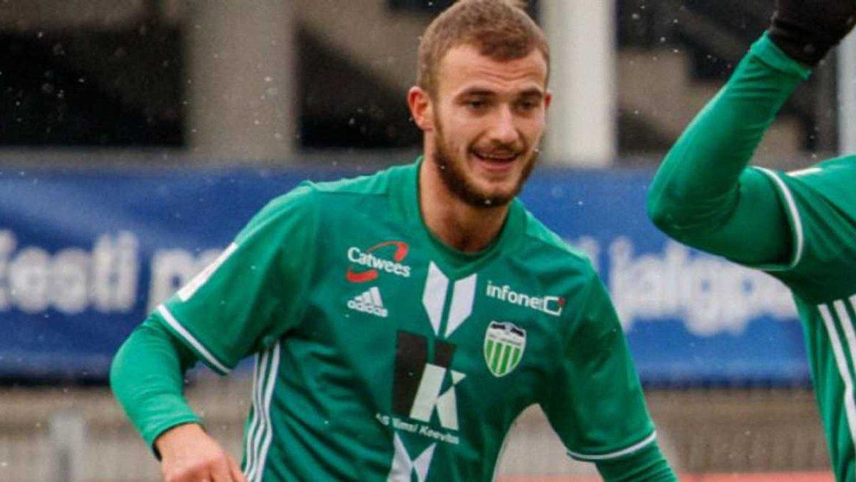 Дебелко забив свій 22-й гол за Левадію в чемпіонаті Естонії
