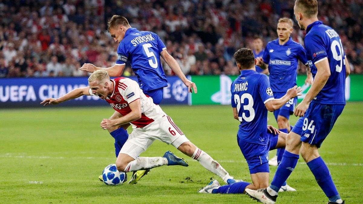 Динамо – Аякс: онлайн-трансляция матча плей-офф Лиги чемпионов