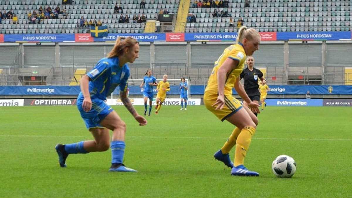 Жіноча збірна України розгромно програла Швеції та втратила шанси вийти на ЧС-2019