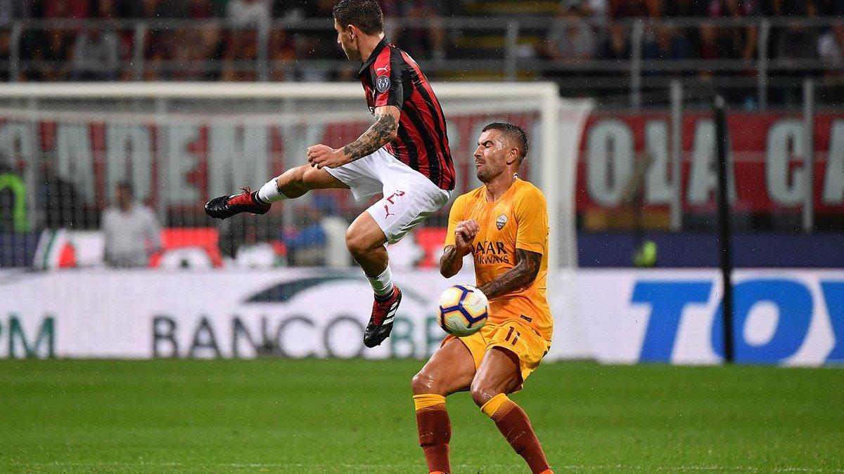 Милан на последних секундах вырвал победу у Ромы