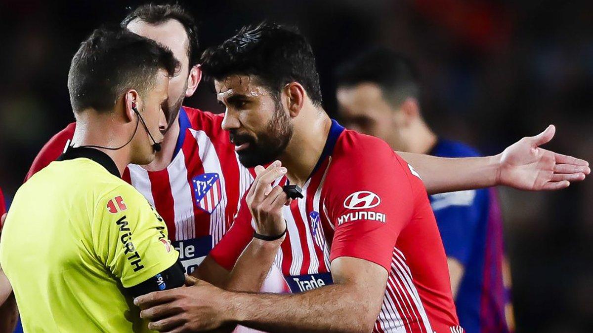 Диего Коста получил 8-матчевую дисквалификацию за брань в адрес арбитра
