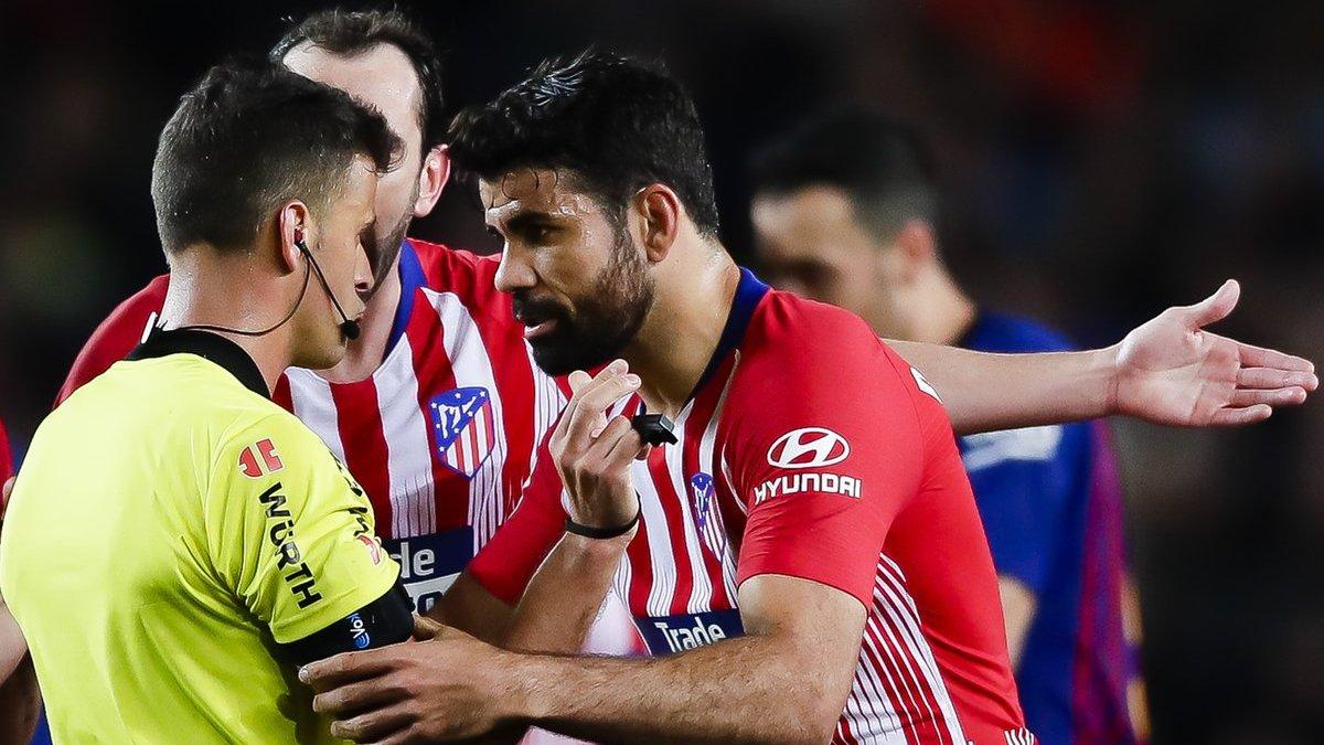 Президент Атлетіко прокоментував 8-матчеву дискваліфікацію Кости