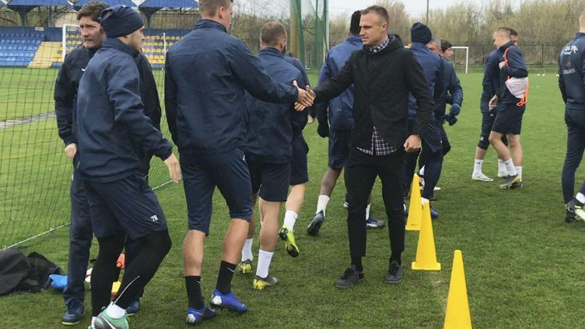 Шевчук попрощался с игроками Олимпика