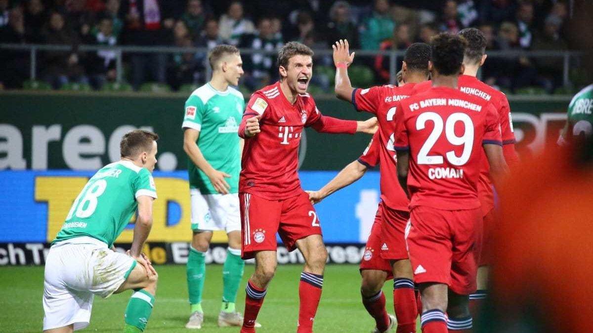 Бавария – Вердер: онлайн-трансляция матча Бундеслиги
