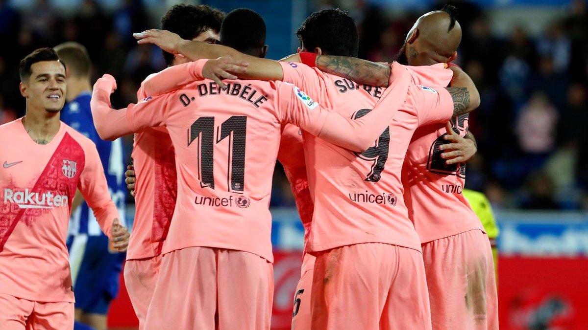 Алавес – Барселона – 0:2 – видео голов и обзор матча