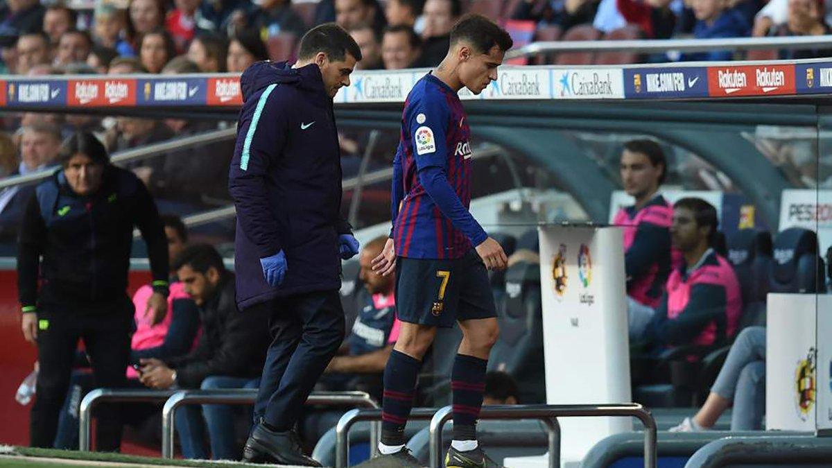 Коутінью отримав пошкодження і може пропустити фінал Кубка Іспанії