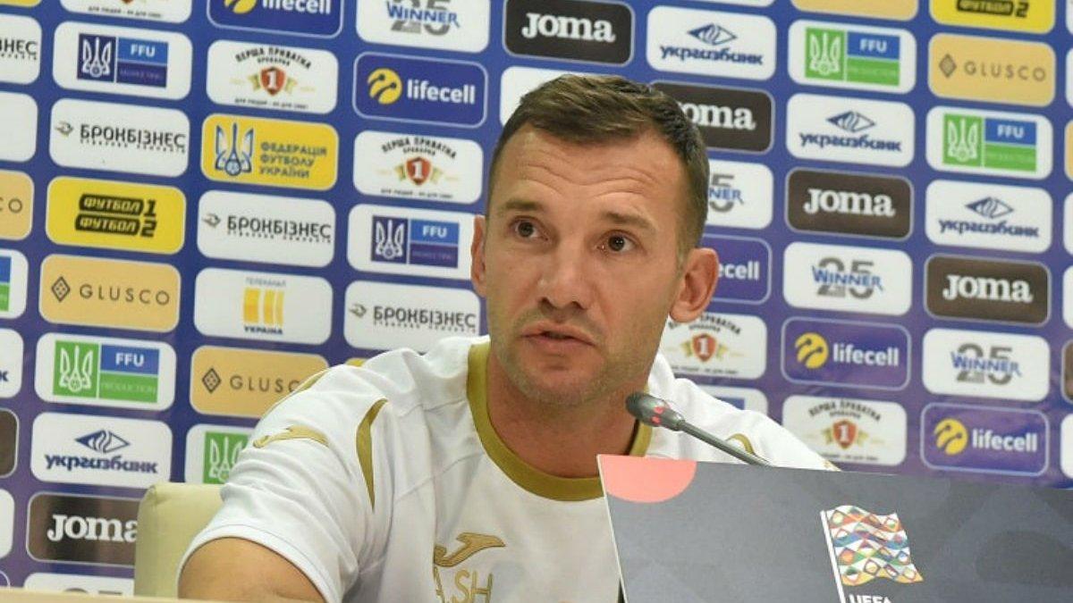 Шевченко огласил заявку сборной Украины на матчи против Сербии и Люксембурга