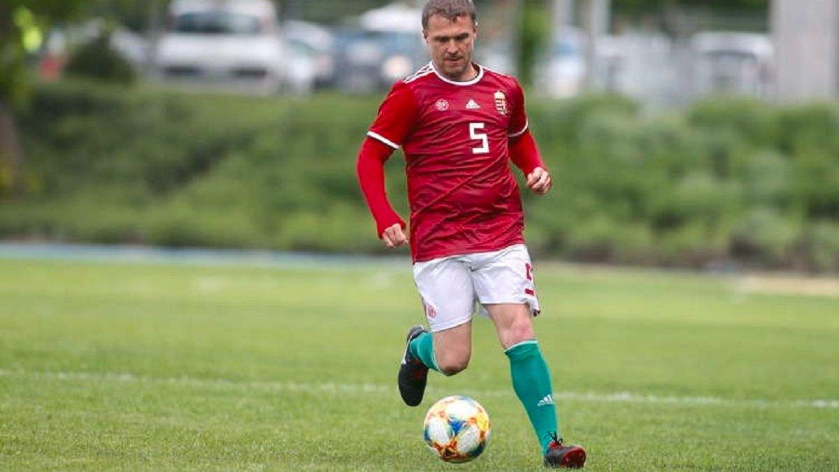Ребров зіграв за збірну ветеранів Угорщини у товариському матчі