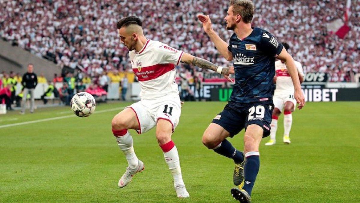Штутгарт и Унион Берлин не определили сильнейшего в первом матче плей-офф за место в Бундеслиге