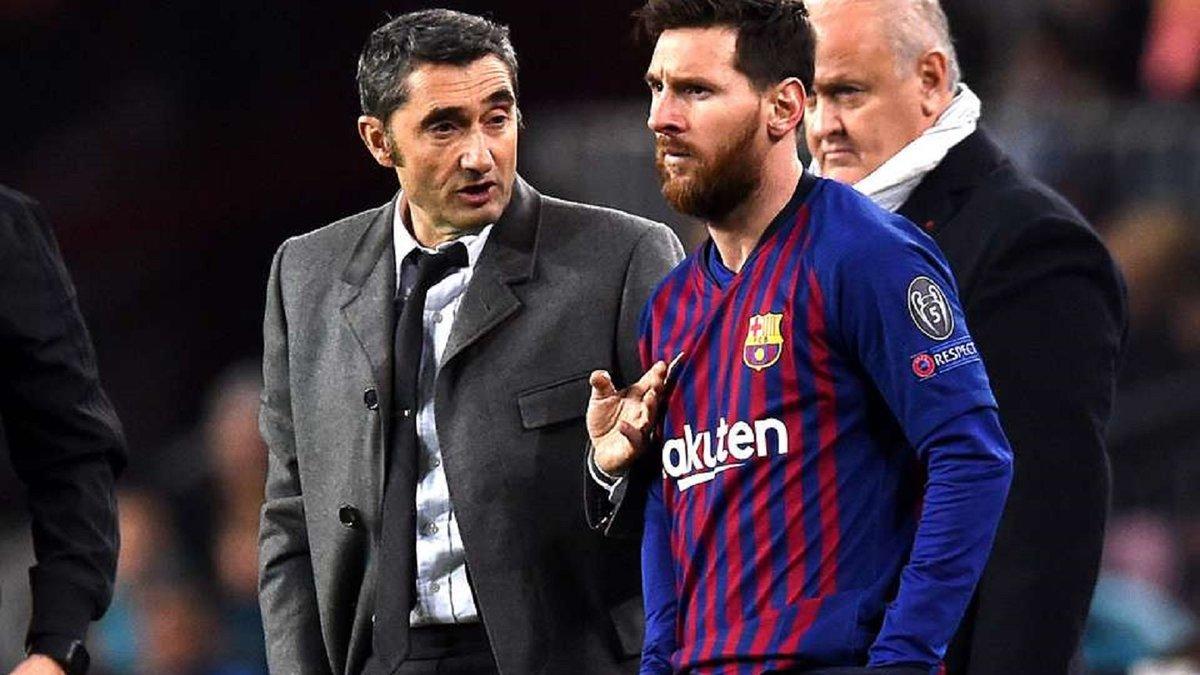 Месси оценил вину Вальверде в фиаско Барселоны в Лиге чемпионов и прокомментировал будущее специалиста
