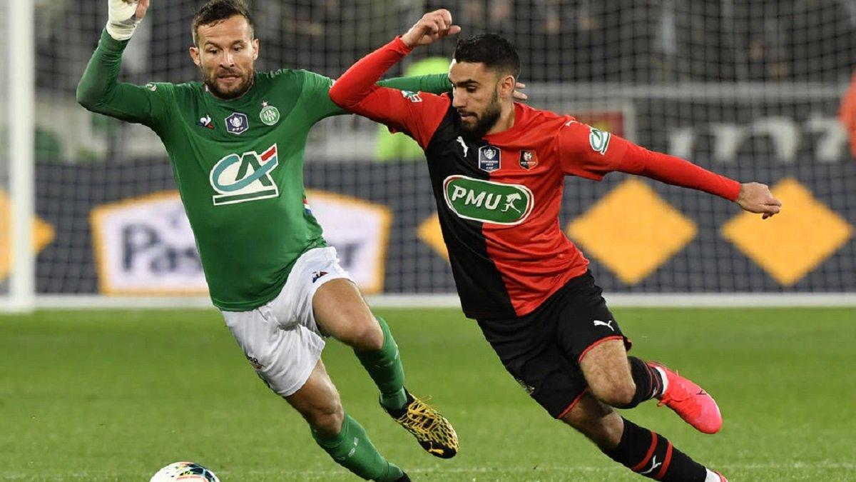 Сент-Етьєн вирвав перемогу в матчі з Ренном і став другим фіналістом Кубка Франції