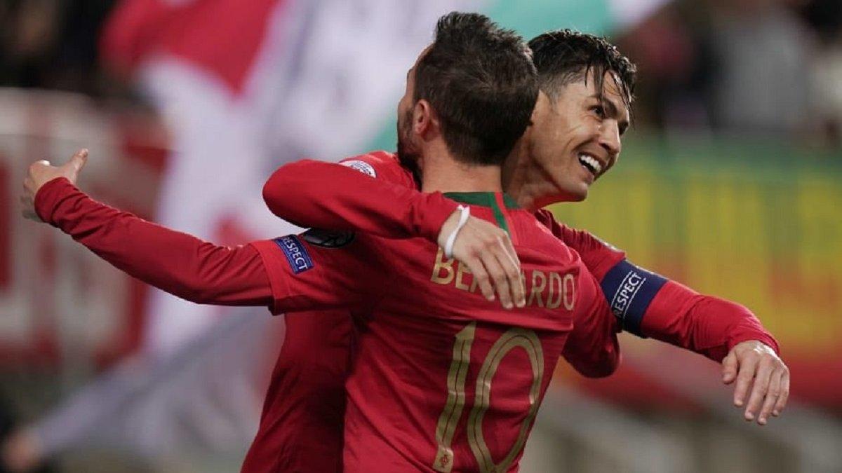 Бернарду  оцінив свої шанси замінити Роналду в збірній Португалії