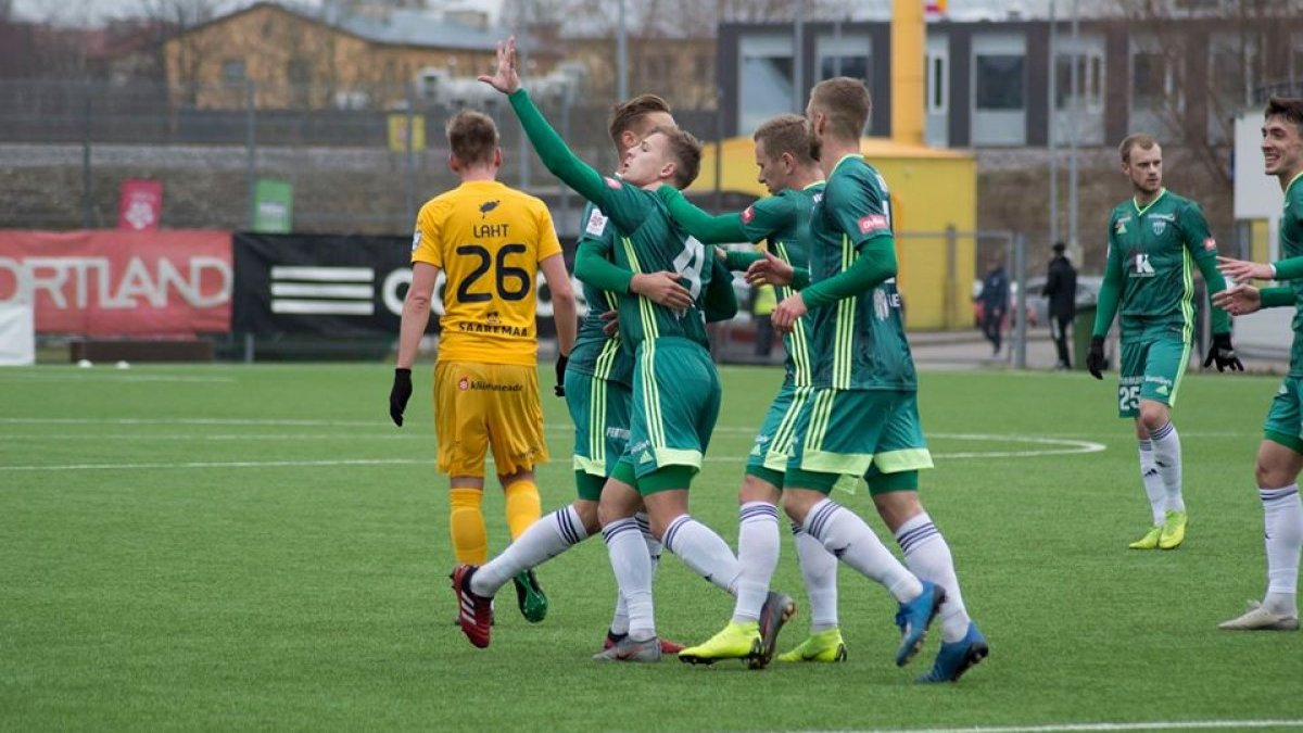 Левадія здобула розгромну перемогу в чемпіонаті Естонії – українці відзначились дебютними голами