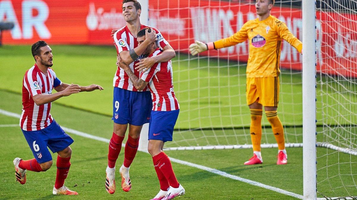 Атлетико расписал результативную ничью с Сельтой, Валенсия на последних минутах вырвала победу у Вальядолида