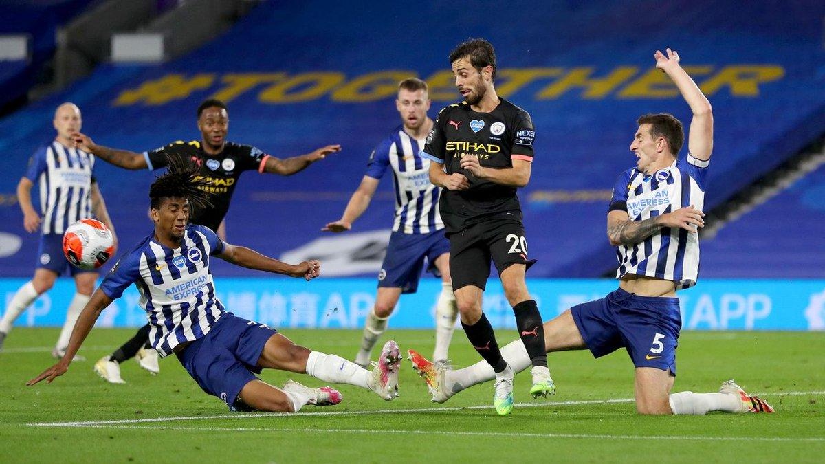 Хет-трик Стерлинга в видеообзоре матча Брайтон – Манчестер Сити – 0:5