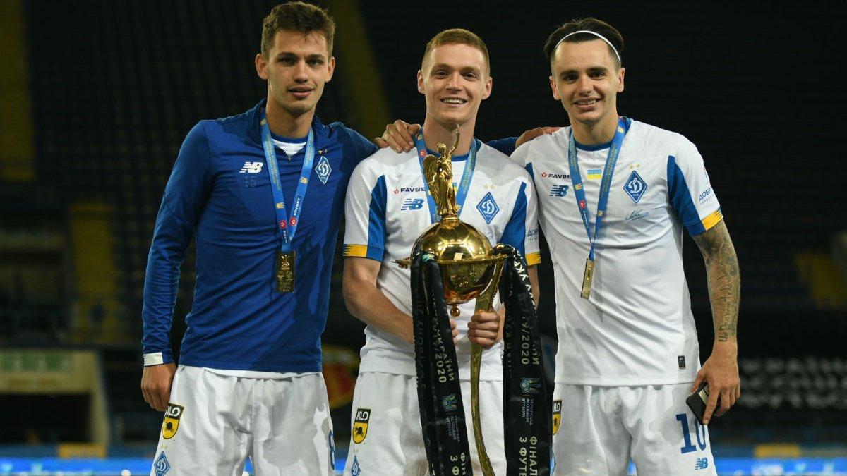 Динамо – Ворскла: церемония награждения обладателей Кубка Украины и лучшие моменты празднования в раздевалке