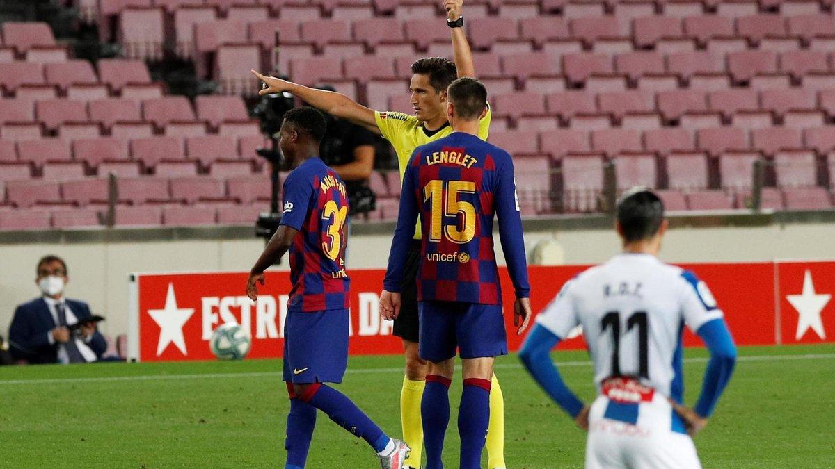Барселона – Эспаньол: Ансу Фати опозорился быстрым удалением и попал в топ-4 исторических лузеров