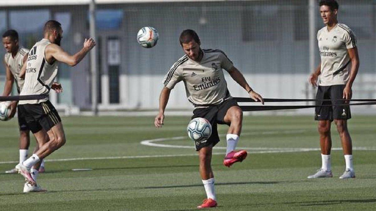 Азар повернувся до тренувань, стан двох бразильців Реала під питанням