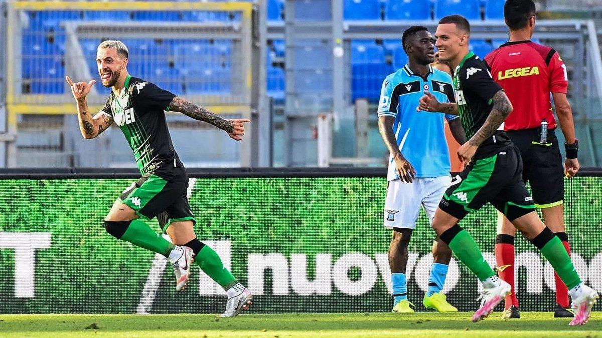 Очередная неудача кризисного Лацио в видеообзоре матча против Сассуоло