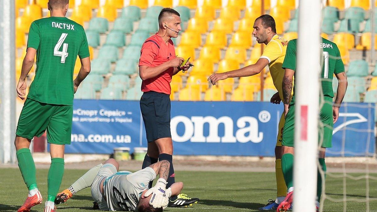 Інгулець – Прикарпаття: УАФ оцінила дії арбітра, якого можуть відсторонити від роботи на матчах професіональних команд