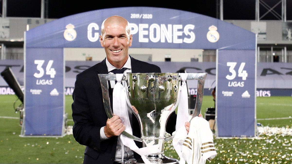 Зидан: Рад триумфу в Ла Лиге больше, чем победе в Лиге чемпионов