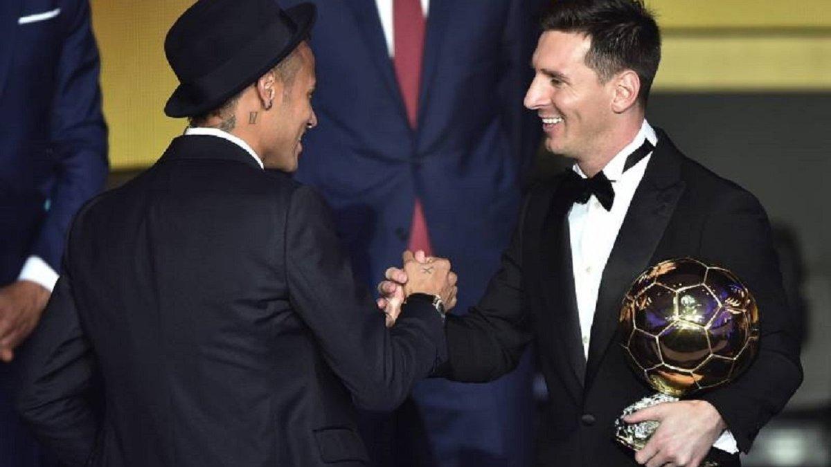"""Рівалдо пророкує Неймару три """"Золоті м'ячі"""""""