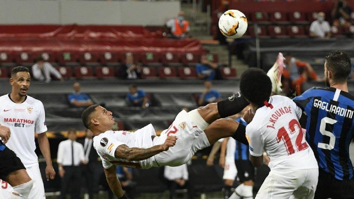 Севілья – Інтер: Дієго Карлос ударом через себе став співавтором переможного гола у фіналі Ліги Європи