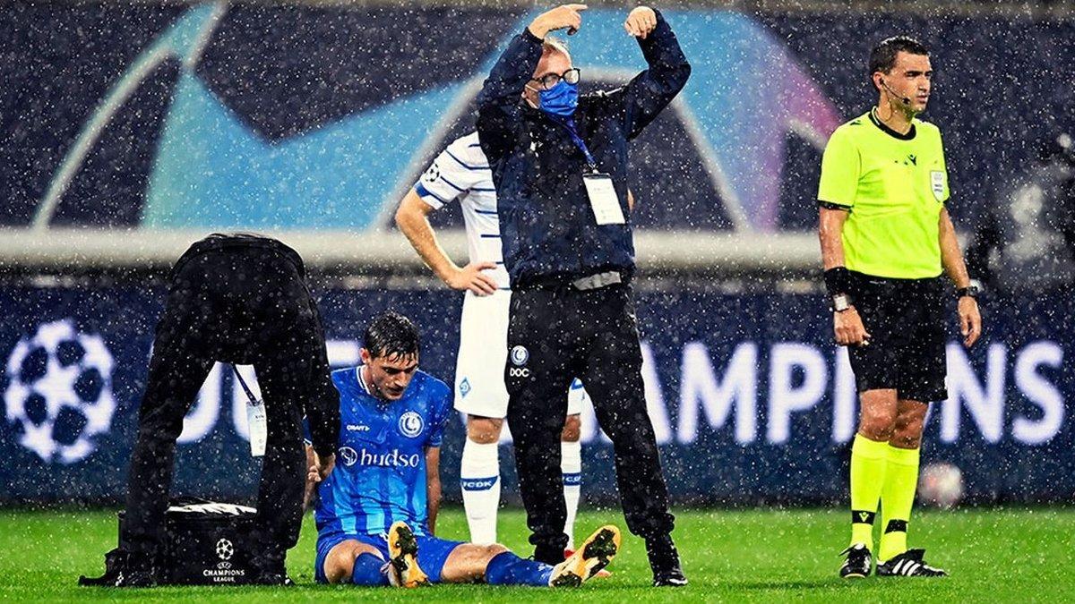 Яремчук травмировался в матче против Динамо – форвард Гента сыграл лишь половину тайма