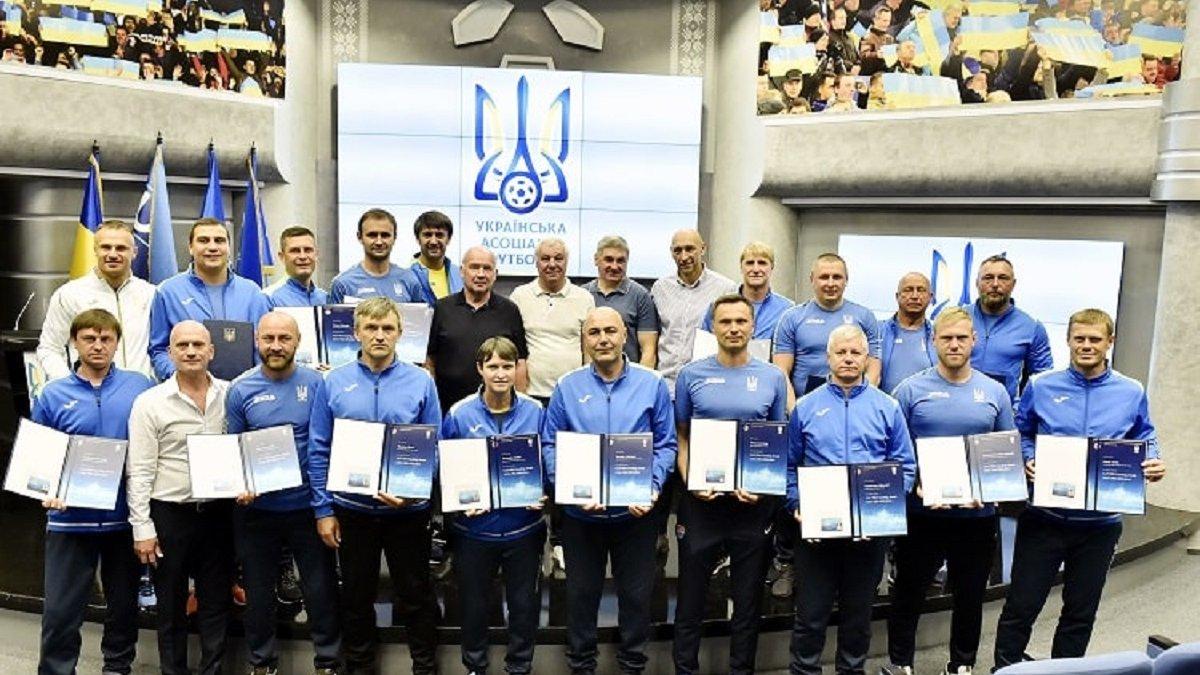 Шовковский, Шевчук и другие звезды получили PRO-диплома УЕФА