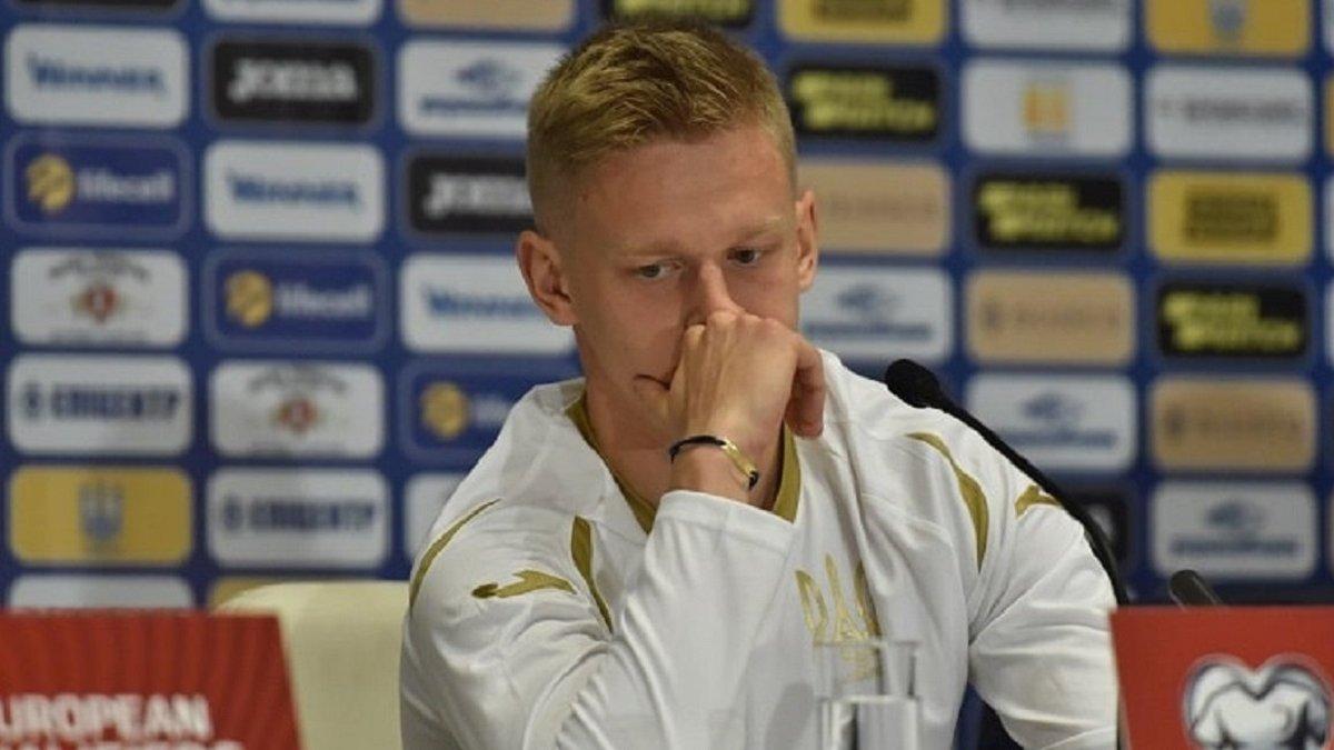 Зінченко пропустить матчі збірної України проти Іспанії, Німеччини та Франції